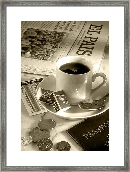 Tipping In Europe Framed Print