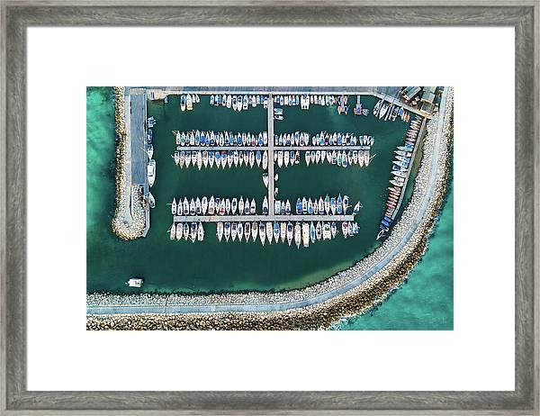 @ Tlv Marina Framed Print