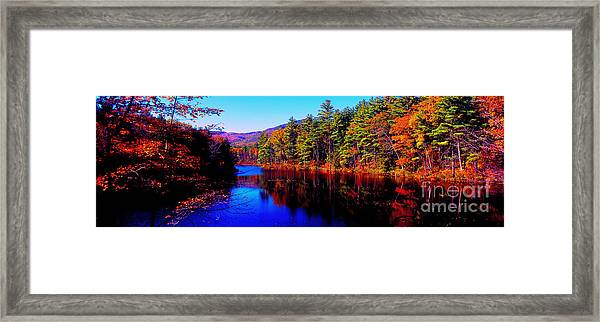 White Mountians National Park Red Eagle Pond New Hampshire Framed Print