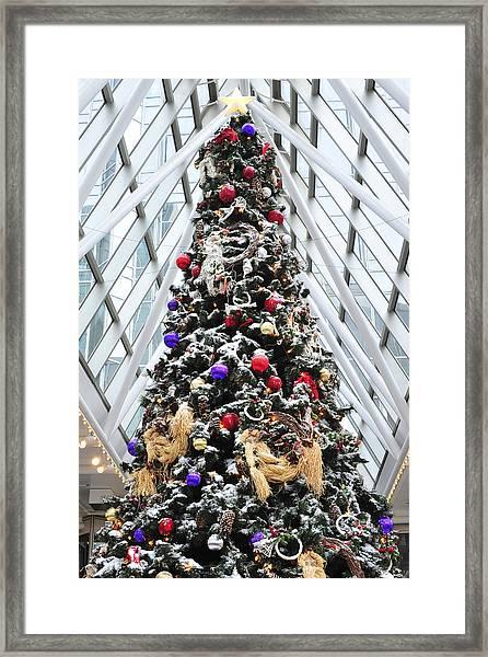Wintergarden Christmas Tree Pittsburgh Framed Print