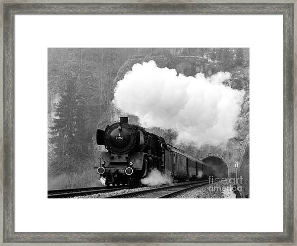 01 150 On Tracks In Franconia Framed Print by Joachim Kraus