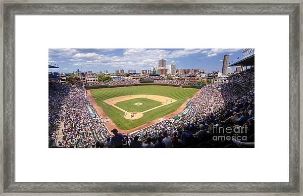 0100 Wrigley Field - Chicago Illinois Framed Print