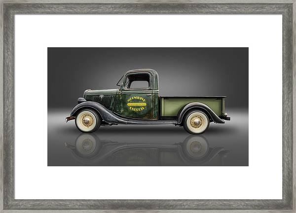 1935 Ford Pickup - Moonshine Express Framed Print by Frank J Benz
