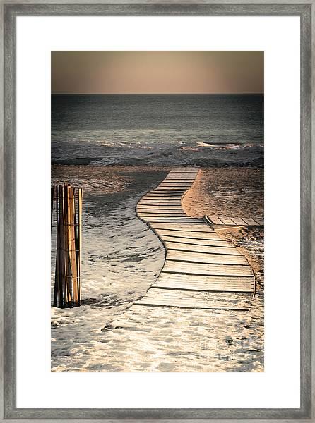 0160 Evanston Boardwalk Framed Print