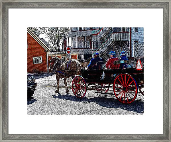 02162015 Buggy Ride Eastern Canada Framed Print
