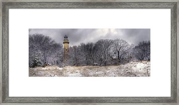 0243 Grosse Point Lighthouse Evanston Illinois Framed Print