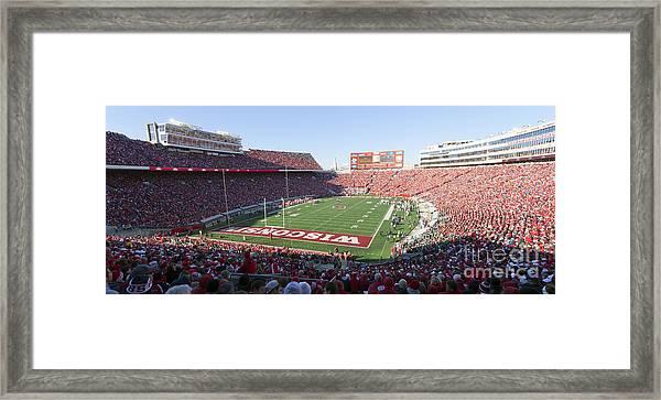 0251 Camp Randall Stadium - Madison Wisconsin Framed Print