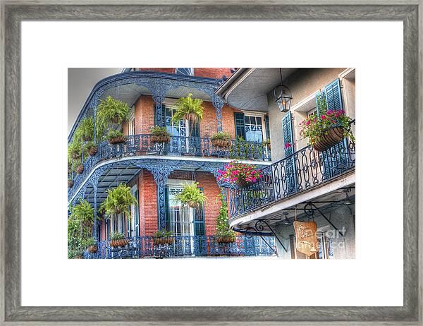 0255 Balconies - New Orleans Framed Print