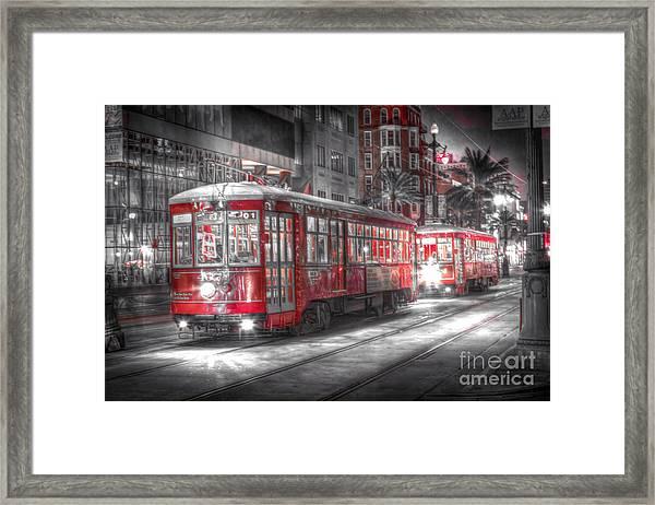 0271 New Orleans Street Car Framed Print