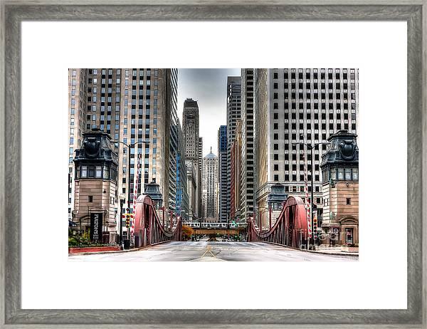 0295b Lasalle Street Bridge Framed Print