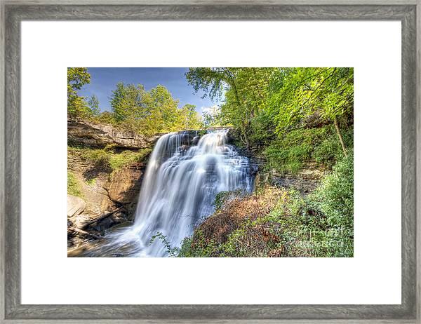 0302 Cuyahoga Valley National Park Brandywine Falls Framed Print