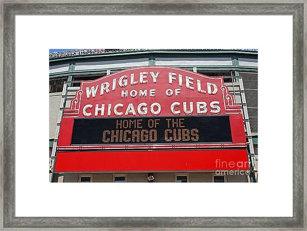 0334 Wrigley Field Framed Print