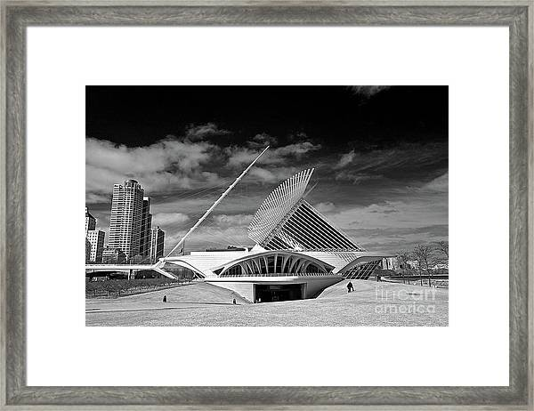 0352 Milwaukee Art Museum Infrared Framed Print
