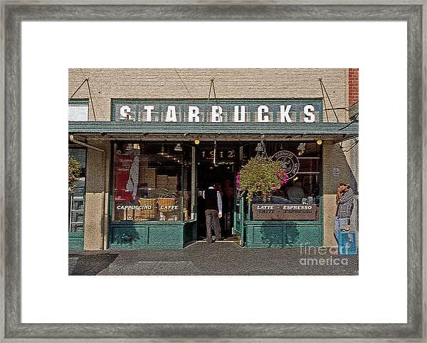 0370 First Starbucks Framed Print