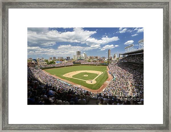 0415 Wrigley Field Chicago Framed Print