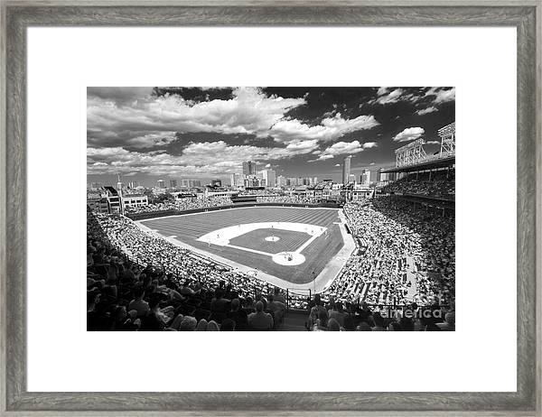 0416 Wrigley Field Chicago Framed Print