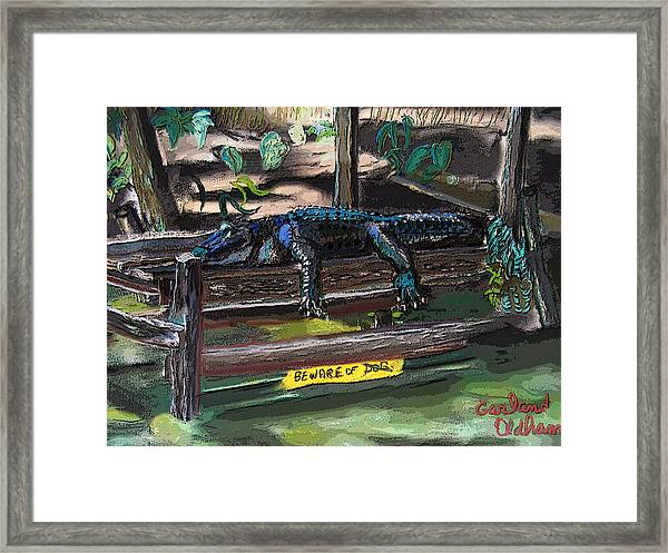 051607 Cajun Watch Dog Framed Print