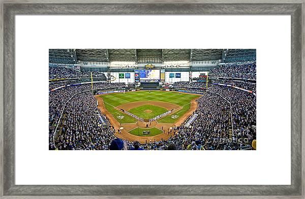 0546 Nlds Miller Park Milwaukee Framed Print