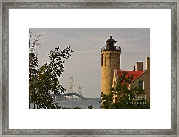 0558 Old Mackinac Point Lighthouse Framed Print