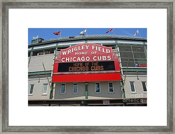 0601 Wrigley Field Framed Print