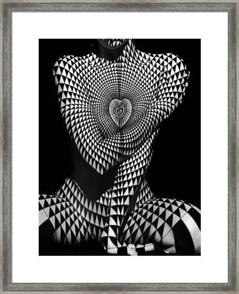 0622 Abstract Art Geometric Female Form  Framed Print