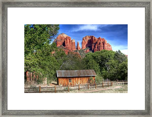 0682 Red Rock Crossing - Sedona Arizona Framed Print