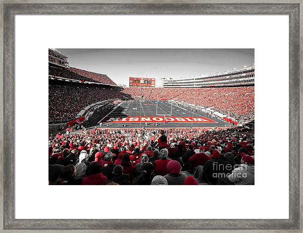 0811 Camp Randall Stadium Framed Print