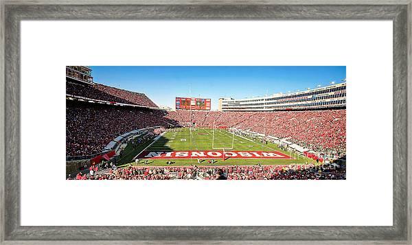 0812 Camp Randall Stadium Panorama Framed Print