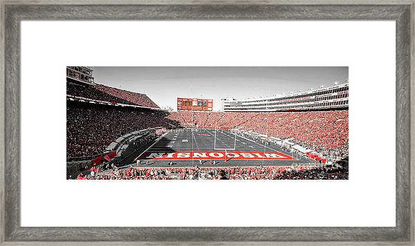 0813 Camp Randall Stadium Panorama Framed Print