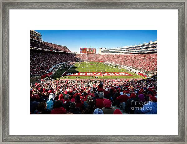 0814 Camp Randall Stadium Framed Print