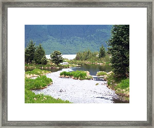 092014 Water Color Alaskan Wilderness Framed Print