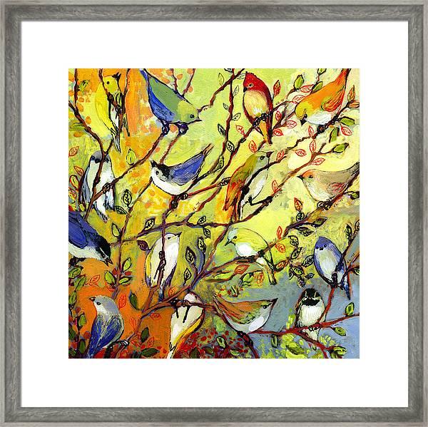 16 Birds Framed Print