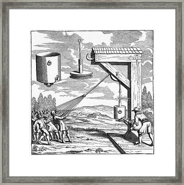 17th Century Vacuum Experiment Framed Print by Cci Archives