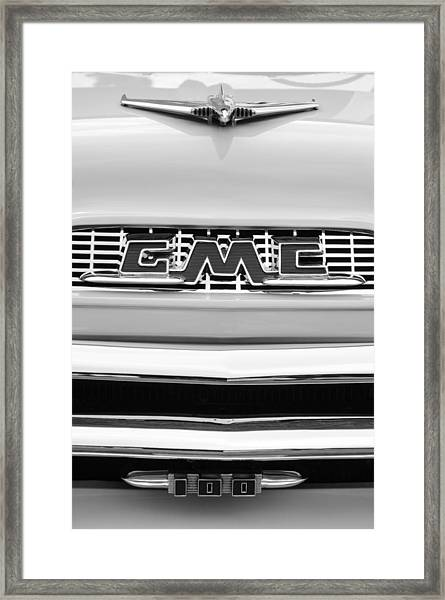 1956 Gmc 100 Deluxe Edition Pickup Truck Framed Print