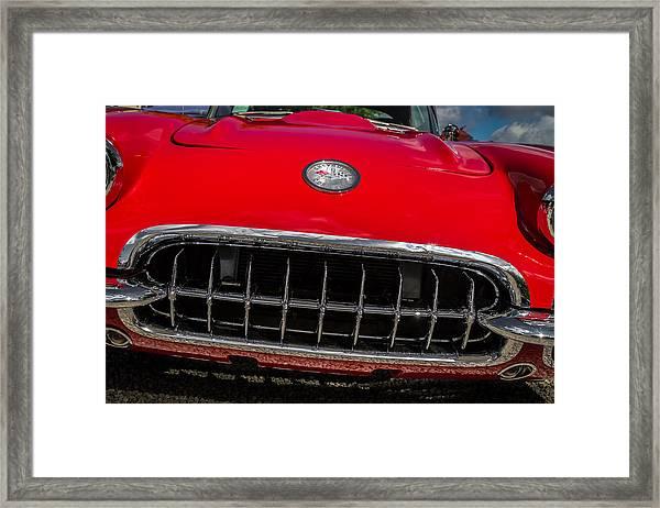 1958 Chevrolet Corvette Grille Framed Print
