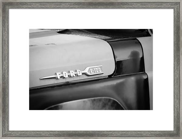 1959 Ford F-100 Emblem Framed Print