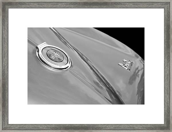 1966 Chevrolet Corvette Coupe Emblems Framed Print