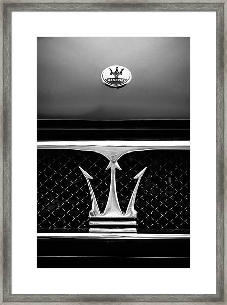 1967 Maserati Ghibli Grille Emblem Framed Print