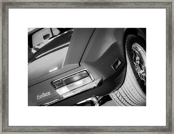 1972 Detomaso Pantera Taillight Emblem Framed Print