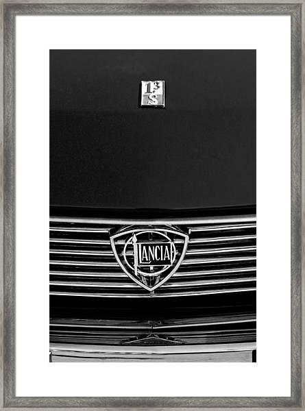 1972 Lancia Fulvia 1.3s S2 Grille Emblem Framed Print