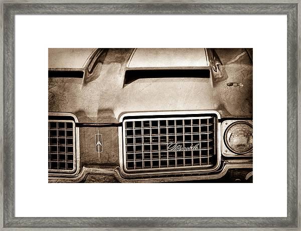 1972 Oldsmobile Grille Emblem Framed Print