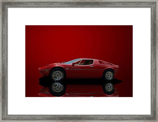 1975 Maserati Merak Framed Print