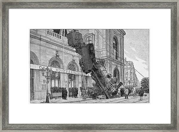 19th Century Railway Accident Framed Print by Cci Archives