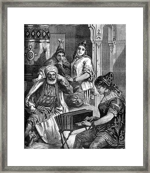 19th Century Tunisian Jewish Family Framed Print