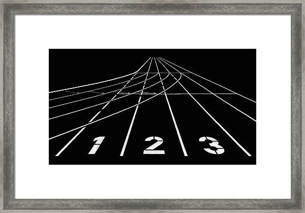 1 2 3 Framed Print by Hans Martin Doelz