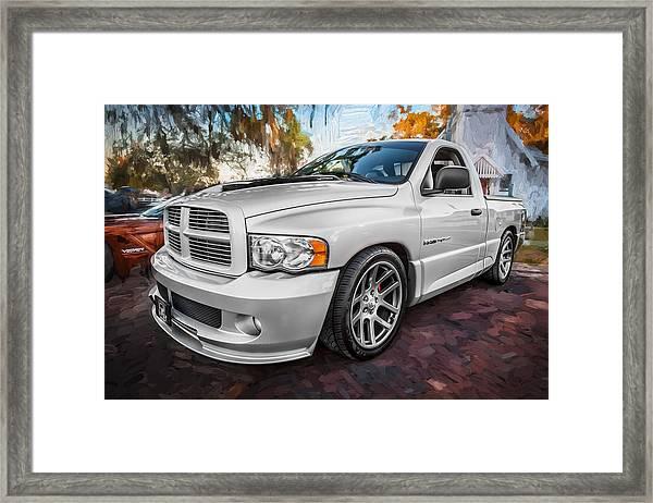 2004 Dodge Ram Srt 10 Viper Truck Painted Framed Print
