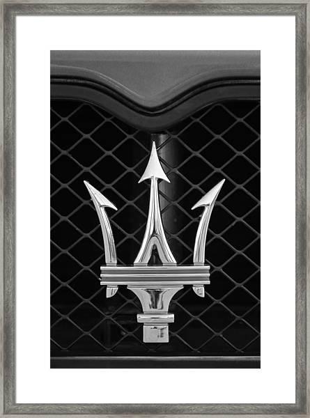 2005 Maserati Gt Coupe Corsa Emblem Framed Print