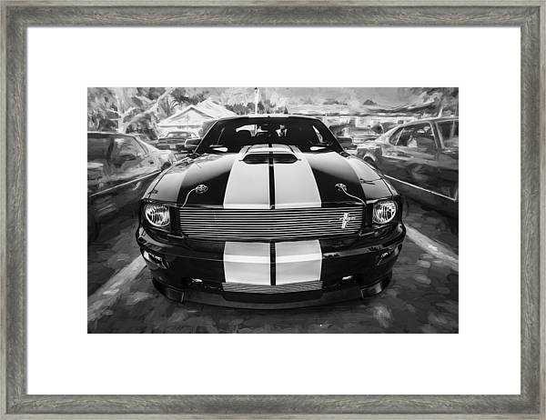 2007 Ford Mustang Shelby Gt Painted Bw   Framed Print