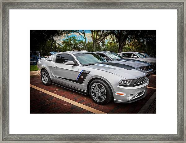 2012 Ford Roush Stage 3 Mustang Rs3 Painted  Framed Print