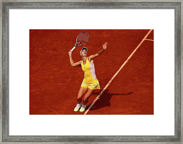 2015 French Open - Day Five Framed Print